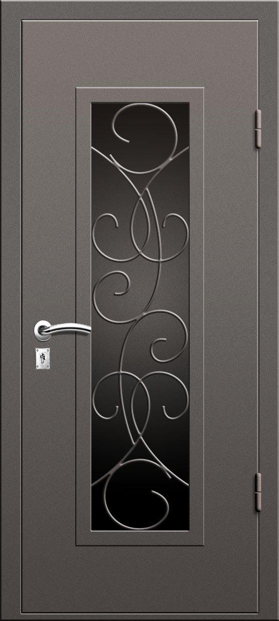 металлическая дверь со стеклопакетом цена
